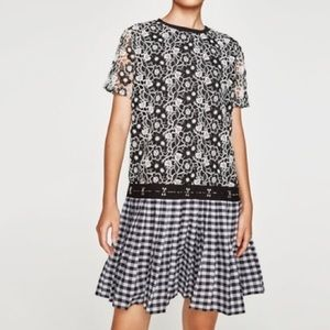 Zara NWT Lace Shift Dress